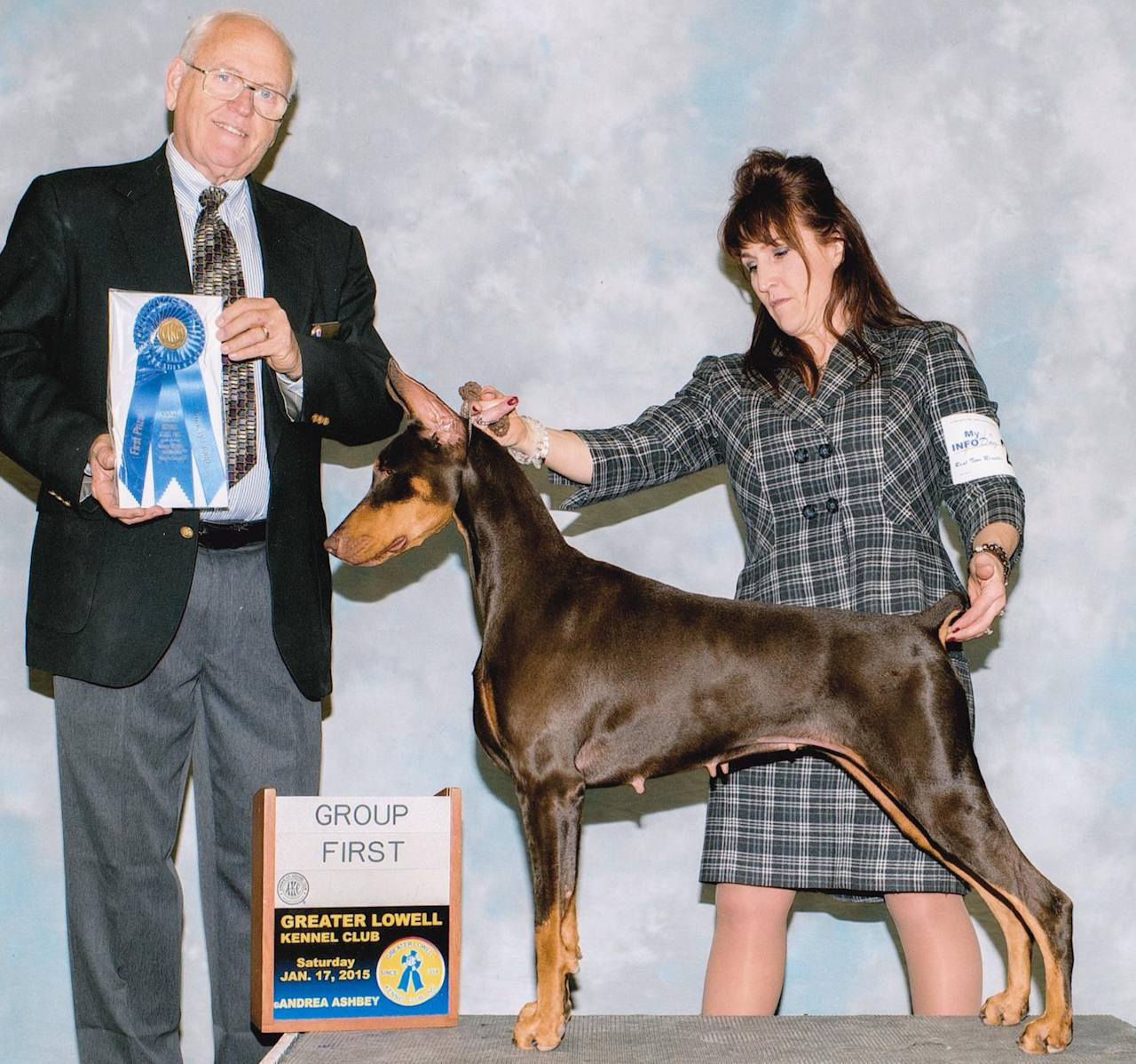 Top winning Dobermans from breeder of 10 generatonis
